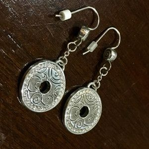 Pandora earrings. Silver and sparkle dangle